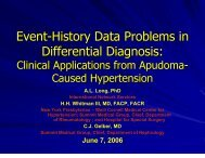Statistical Event-History Problems for Differential Diagnosis in ...