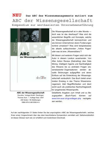 ABC des Wissensmanagements - Auer Consulting & Partner