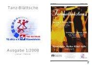 Tanz-Blättsche Ausgabe 1/2008 - TSC Rot-Weiß Rüsselsheim