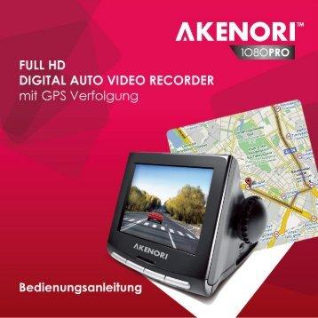 AKENORI 1080 PRO Bedienungsanleitung - Deutsch.