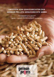 Emissionsprospekt - German Pellets Genussrechte GmbH
