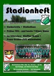 Ausgabe 2 / 2011 - TSV Armsheim-Schimsheim 1886 e.V.