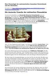 Chronologie der Ausnahme Deutschlands - Novertis