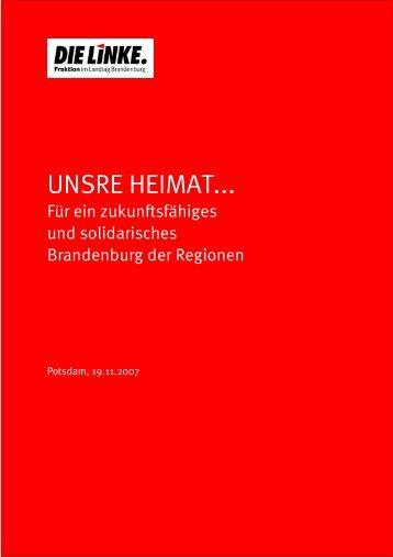 Brandenburg der Regionen - Brandenburg 2020