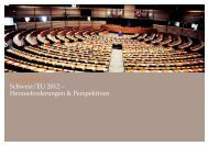 Europabrevier Schweiz/EU 2012 – Herausforderungen & Perspektiven