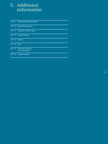 Siemens Annual Report 2010, Additional information