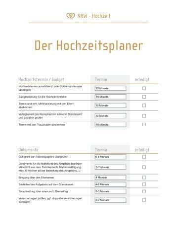 Der Hochzeitsplaner - NRW-Hochzeit