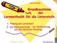 Grundbausteine der Lernmethodik für die Unterstufe - Gymnasium ...