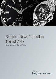 Sonder I-News Collection Herbst 2012 - Mercedes-Benz