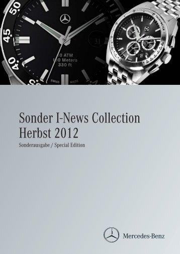 Sonder I-News Collection Herbst 2012 - Mercedes-Benz