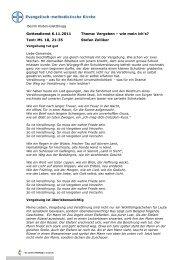 Vergeben - Wie mein ich`s? (Stefan Zolliker, 6.11.2011)