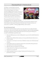 Functional Food  Nutriceuticals - Dialog - Gentechnik