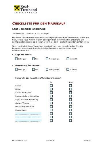 Checkliste für den Hauskauf in Österreich! - Raiffeisen ...