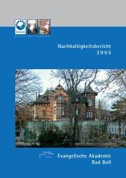 Nachhaltigkeitsbericht Bad Boll - KirUm