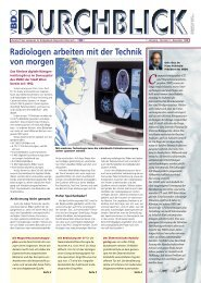 Radiologen arbeiten mit der Technik von morgen - Verband für ...