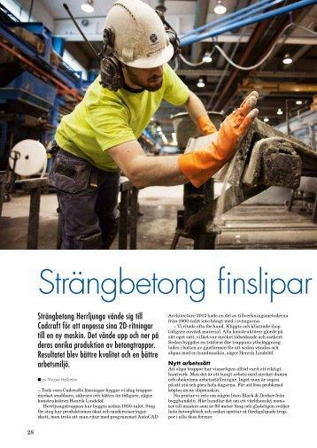 Strängbetong finslipar produktionen - Cadcraft.se