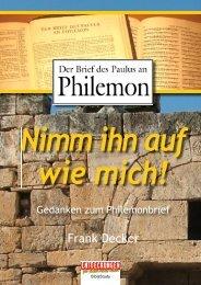 anken zum Philemon - Entdeckungen für (D)ein neues Leben