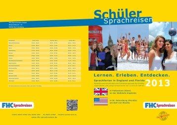 Prospekt 2013 - PDF-Download ( 3 MB ) - FHC Sprachreisen