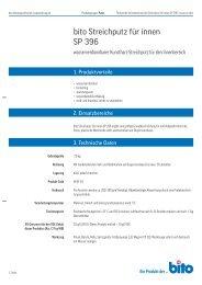 Technisches Datenblatt SP 396 - Bito AG