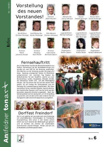 Vorstellung des neuen Vorstandes! - Musikverein Ansfelden