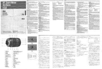 AF Zoom-Nikkor 35-70 f/2.8 - Nikon
