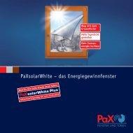 PaXsolarWhite - Glaserei - Fensterbau Vogel