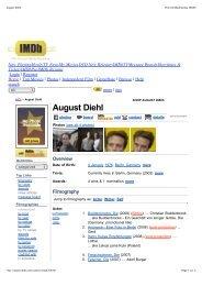 August Diehl - Mascaret Films