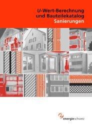 U-Wert-Berechnung und Bauteilekatalog Sanierungen