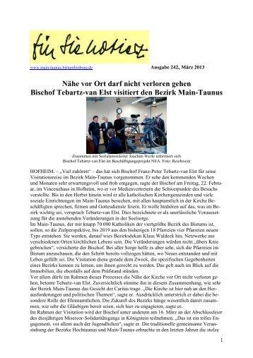 Newsletter Mai 2013 - Bezirk Main-Taunus - Bistum Limburg