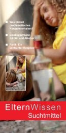 Elternwissen Suchtmittel als PDF-Download 964 KB - AGJ Freiburg