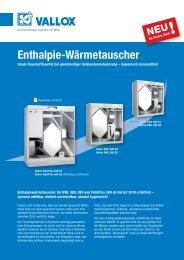 Enthalpie-Wärmetauscher - Heinemann GmbH