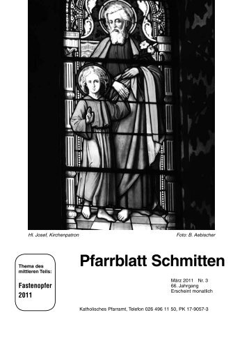 Pfarrblatt Nr. 3 - Pfarrei Schmitten