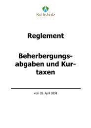 Reglement Beherbergungsabgaben und Kurtaxen - Gemeinde ...