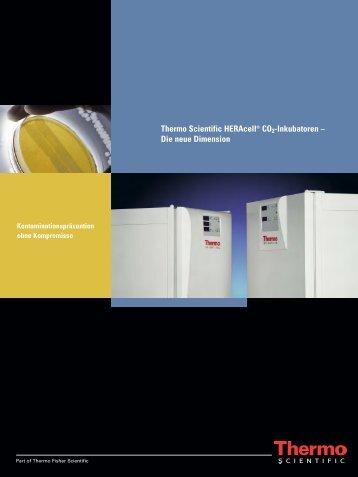 Thermo Scientific HERAcell® CO2-Inkubatoren – Die neue Dimension