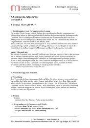 3. Sonntag im Jahreskreis Lesejahr A - Katholisches Bibelwerk