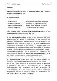 VWL – Investition / Sparen Ralf Schmacht Investieren Der ...