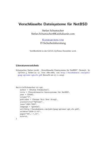 Verschlüsselte Dateisysteme für NetBSD - Kaishakunin.com