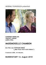Mademoiselle Chambon von Stéphane Brizé, mit Sandrine Kiberlain