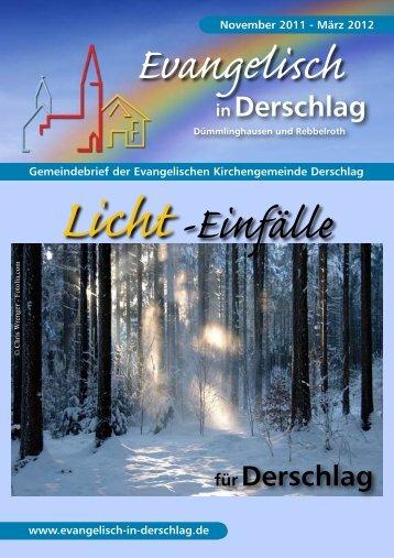 März 2012 - Evangelische Kirchengemeinde Derschlag