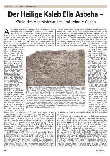 Der Heilige Kaleb Ella Asbeha – König des Abessinierlandes und ...