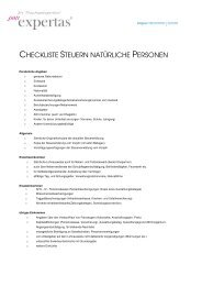 Checkliste Unterlagen Steuern private Personen - expertas.ch: Home