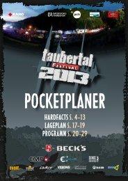 gehts zum Download des Pocketplaners - Taubertal Festival
