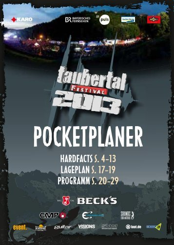 gehts zum Download des Pocketplaners - Taubertal Festival