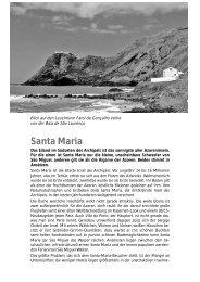Komplette Leseprobe zu Santa Maria herunterladen - Azoren Blog