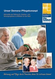 Unser Demenz-Pflegekonzept - Dichterviertel