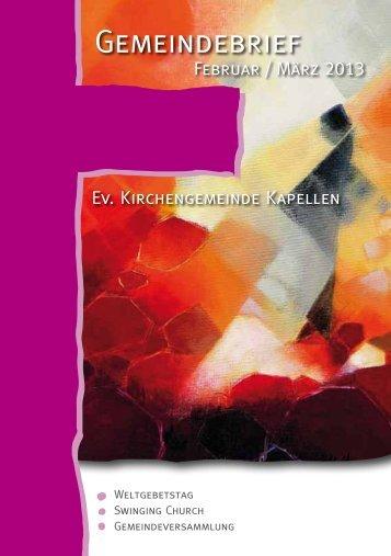 Gemeindebrief 1 / 2013 - Evangelische Kirchengemeinde Moers ...