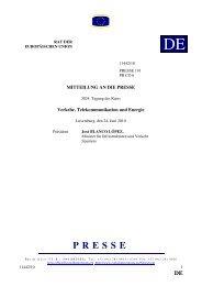 Schlussfolgerungen - Rat der Europäischen Union - Europa