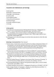 Publikationen - Pädagogische Hochschule - Schwäbisch Gmünd