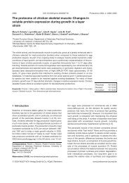The proteome of chicken skeletal muscle: Changes in soluble ...
