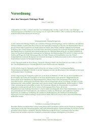 Verordnung - Biosphärenreservat Vessertal-Thüringer Wald